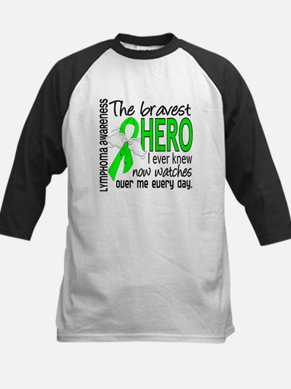 Bravest Hero I Knew Lymphoma Kids Baseball Jersey