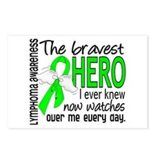 Bravest Hero I Knew Lymphoma Postcards (Package of