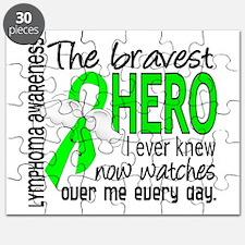 Bravest Hero I Knew Lymphoma Puzzle