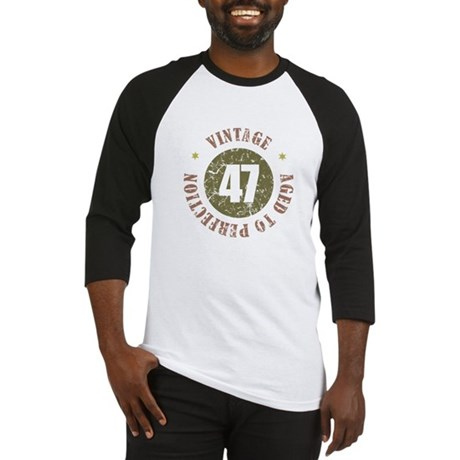 47th Vintage birthday Baseball Jersey