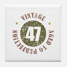 47th Vintage birthday Tile Coaster