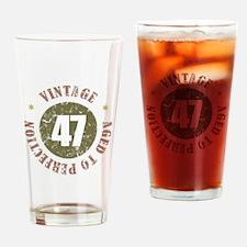 47th Vintage birthday Drinking Glass