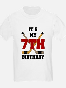Hockey 7th Birthday Kids T-Shirt
