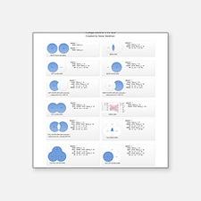 "TSQL JOIN TYPES Square Sticker 3"" x 3"""
