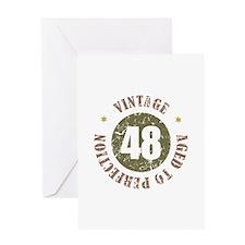48th Vintage birthday Greeting Card