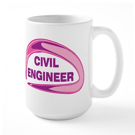 Civil Engineer In Pink Large Mug