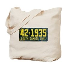 1941 South Dakota License Plate Tote Bag