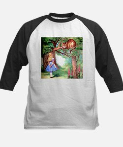 Alice and the Cheshire Cat Kids Baseball Jersey
