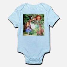 Alice and the Cheshire Cat Infant Bodysuit