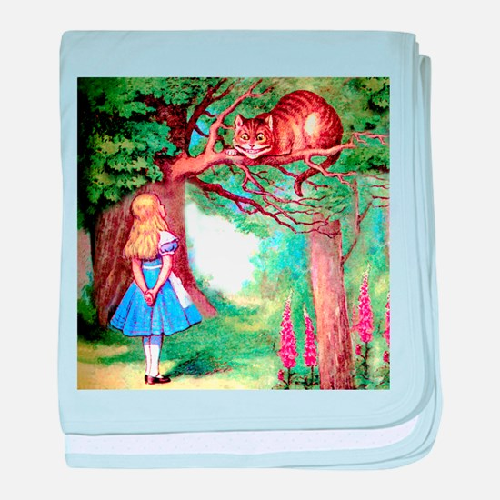 Alice and the Cheshire Cat baby blanket