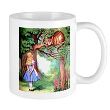 Alice and the Cheshire Cat Small Mugs