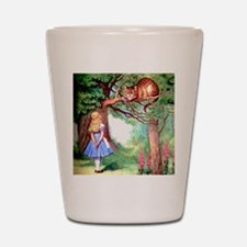 Alice and the Cheshire Cat Shot Glass