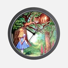 Alice and the Cheshire Cat Wall Clock