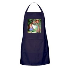 Alice and the Cheshire Cat Apron (dark)