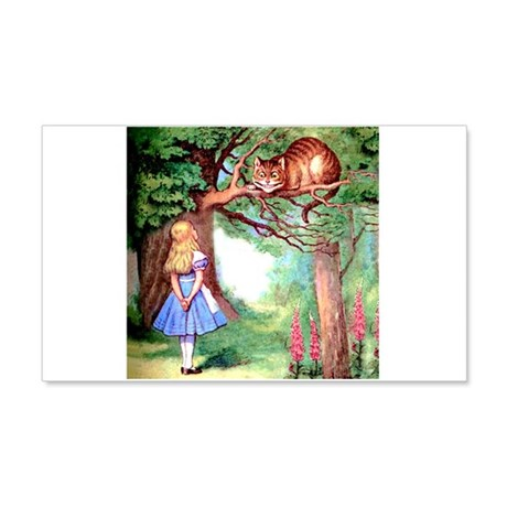 Alice and the Cheshire Cat 20x12 Wall Decal