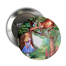 """Alice and the Cheshire Cat 2.25"""" Button (10 pack)"""