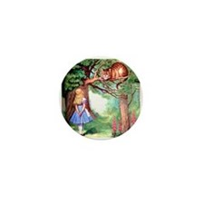 Alice and the Cheshire Cat Mini Button