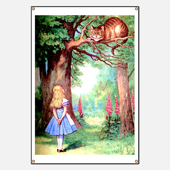 Alice and the Cheshire Cat Banner