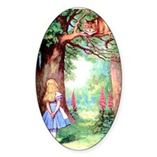 Alice and the Cheshire Cat Decal