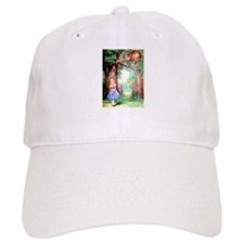 Alice and the Cheshire Cat Baseball Cap