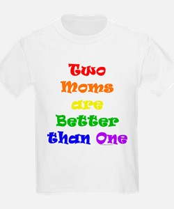 Two Moms Kids T-Shirt