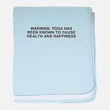 Yoga happiness baby blanket
