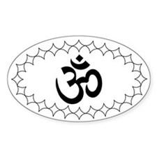 white om Oval Decal