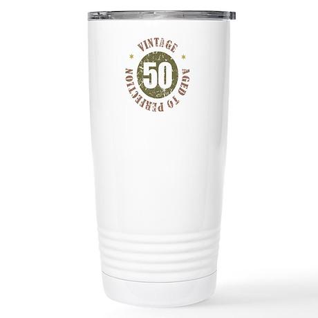 50th Vintage birthday Stainless Steel Travel Mug