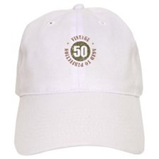 50th Vintage birthday Baseball Cap