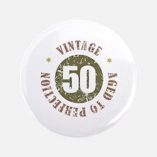 """50th Vintage birthday 3.5"""" Button"""