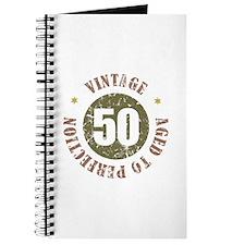 50th Vintage birthday Journal