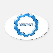 WWPD blue.jpg Oval Car Magnet