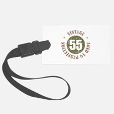 55th Vintage birthday Luggage Tag