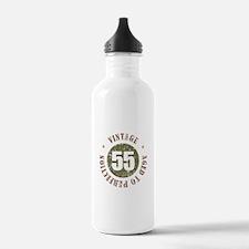 55th Vintage birthday Water Bottle