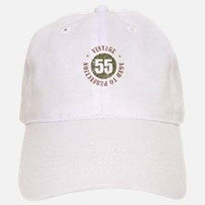 55th Vintage birthday Baseball Baseball Cap