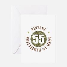 55th Vintage birthday Greeting Card