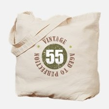 55th Vintage birthday Tote Bag