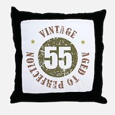 55th Vintage birthday Throw Pillow