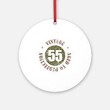 55th Vintage birthday Ornament (Round)