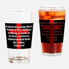 2 John 1-4 Drinking Glass