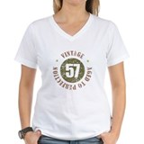 57 year and age Womens V-Neck T-shirts