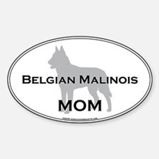 Belgian Malinois MOM Oval Decal
