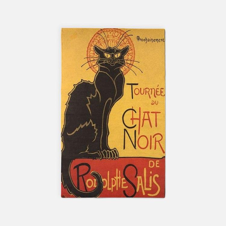 Le Chat Noir 3'x5' Area Rug