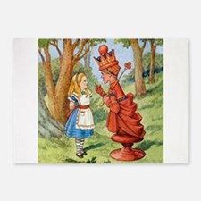 Alice Meets The Red Queen 5'x7'Area Rug