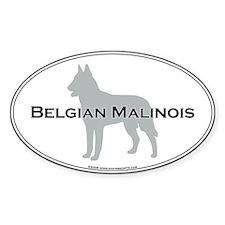 Belgian Malinois Oval Decal