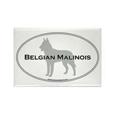 Belgian Malinois Rectangle Magnet