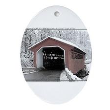 Silk Road Covered Bridge Ornament (Oval)