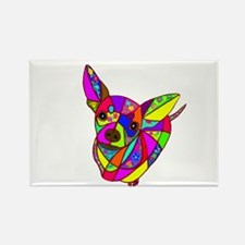 Colored Chihuahua Rectangle Magnet