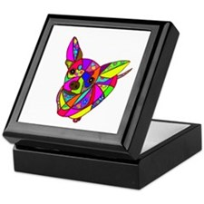 Colored Chihuahua Keepsake Box