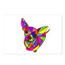Colored Chihuahua Postcards (Package of 8)